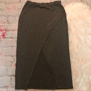 H&M Gray Wrap Front Skirt